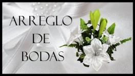 ¡ Arreglo de Bodas con Flores de tela ! En minutos